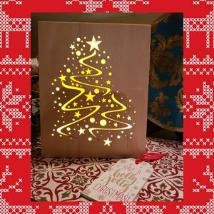 Light-up Wooden Engraved Christmas Tree Box